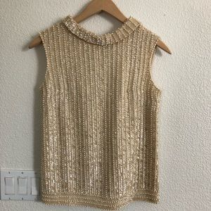 Vintage Lord and Taylor Pearl high neck top